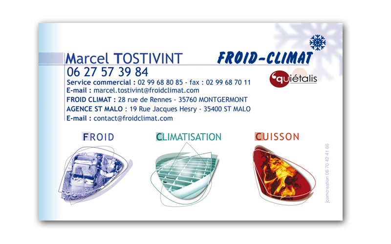 Carte De Visite Froid Climat Mongermont
