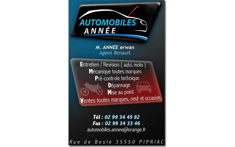 Carte Automobiles Annee Pipriac