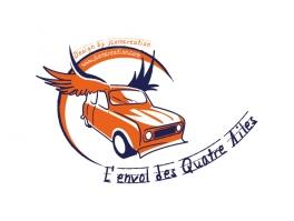 """illustration logo""""l'envol des 4 ailes"""""""