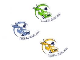 """variantes logo""""l'envol des 4 ailes"""""""