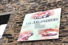"""Création panneau dibond restaurant """" Les Arcandiers"""""""