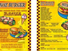 Création flyer restaurant Noz Burger
