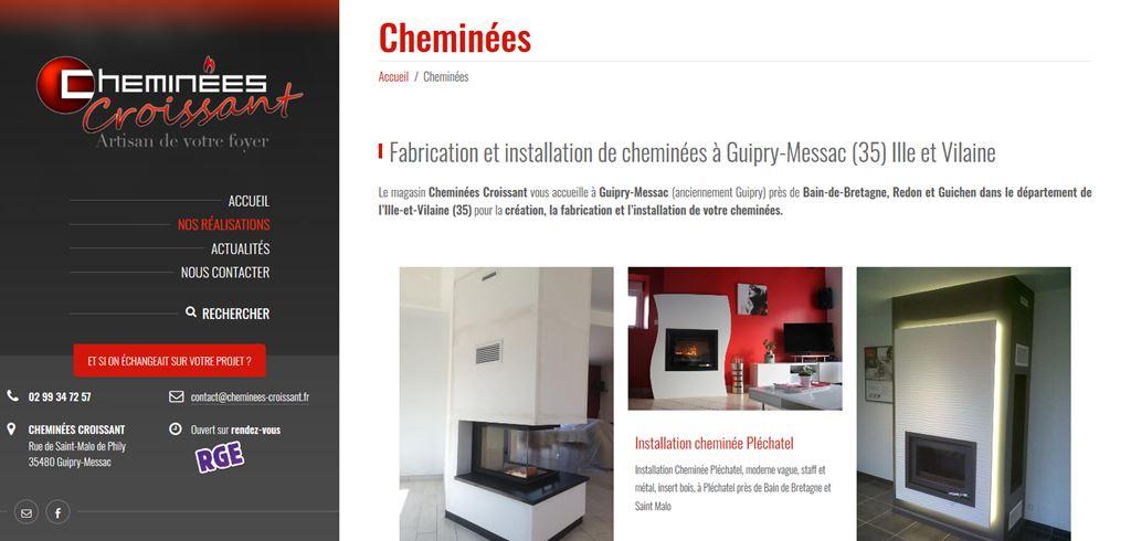 Création site internet Cheminées