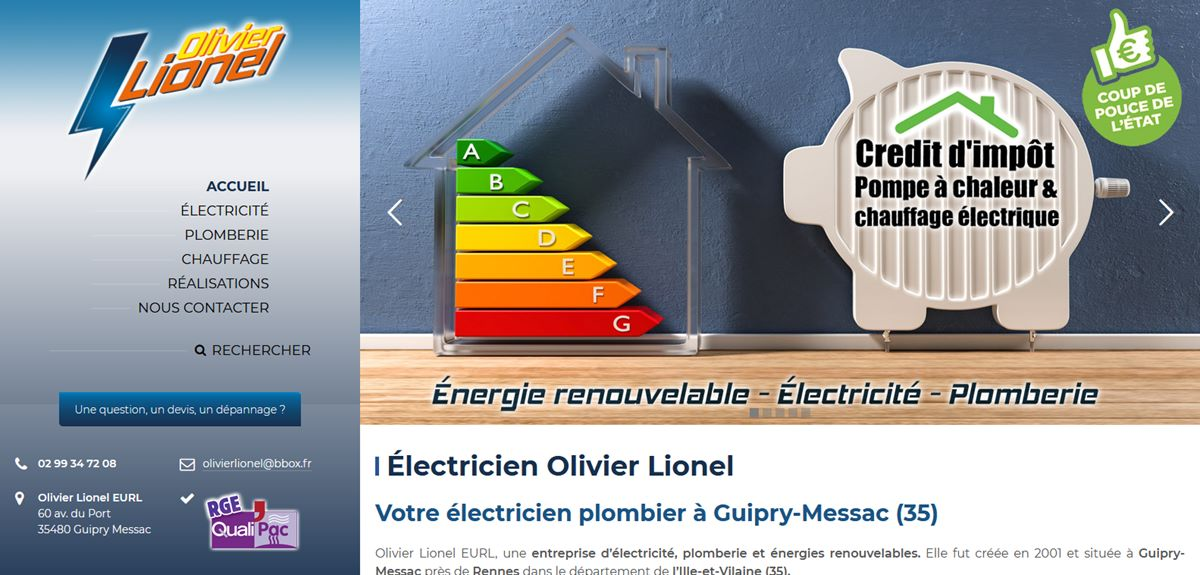 Création site internet Électricien