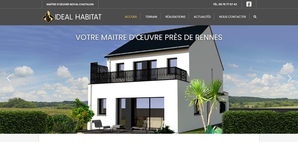 Conception site internet Idéal Habitat